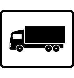 Black shipping truck vector