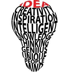 Bulbs ideas vector