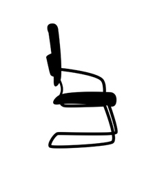 Chair office furniture icon graphic vector