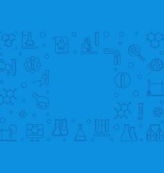 Chemical blue linear horizontal vector