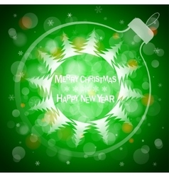 christmas blue light background card vector image