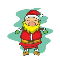 Christmas theme santa claus happy vector image