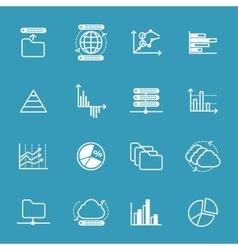 data storage and data analysis icons vector image
