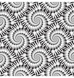 Design seamless monochrome spiral rotation pattern vector