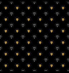 Diamond seamless pattern hand drawn sketched vector
