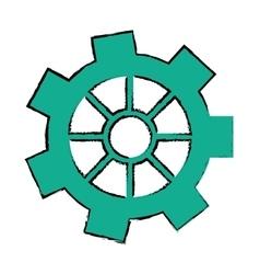 drawing gear wheel engine cog icon vector image