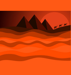 egyptian pyramids of ancient egypt desert vector image vector image
