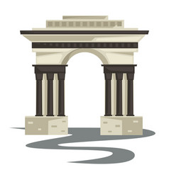Empire style arch or building columns or pillars vector