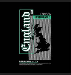 England premium quality typography vintage vector