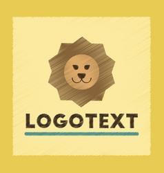 Flat shading style icon lion logo vector