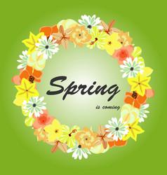 Floral of spring background vector