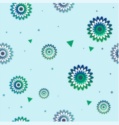 flowers pattern with circle vector image