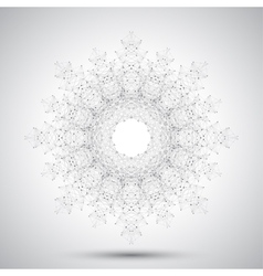 Geometric abstract form with connected line and vector image