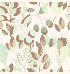 geometrical botanical print seamless pattern in vector image