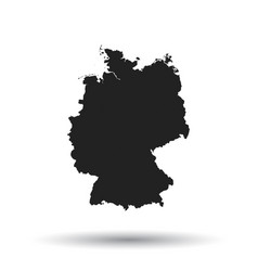 Germany map icon flat germany sign symbol with vector
