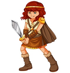 Girl viking vector