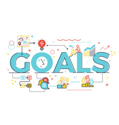 Goal word in business concept vector