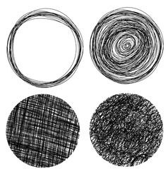 Hand drawn grunge circles vector