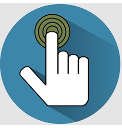 Handclick icon flat vector image