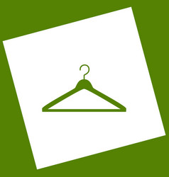 hanger sign white icon vector image