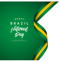 Happy brazil national day template vector