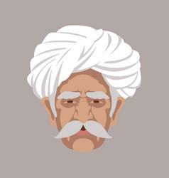 head man in a turban vector image