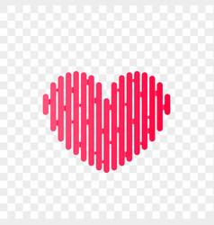 heart logo abstract modern icon vector image