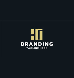 hg square logo design inspiration vector image