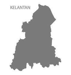 Kelantan malaysia map grey vector