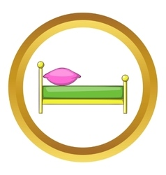 Kid bed icon vector image