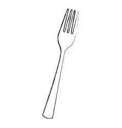 Kitchen fork isolated icon vector