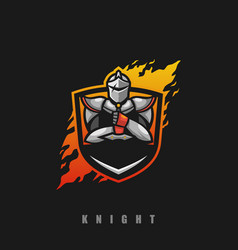 knight concept design template vector image