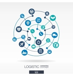 Logistic connection concept Abstract background vector