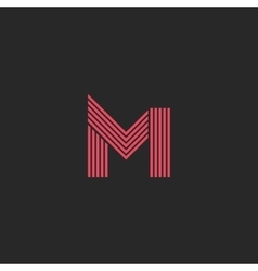 Logo letter M monogram initial design element vector