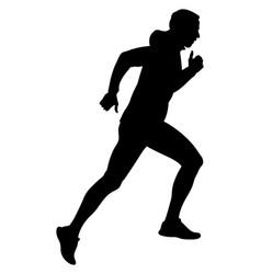 male runner running vector image