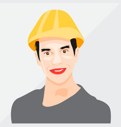 Man cartoon icon face vector