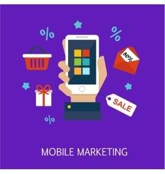 Mobile Marketing Concept Art vector
