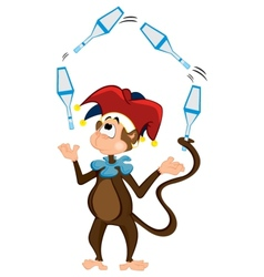 Monkey juggler vector