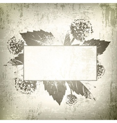 Natural Floral Frame Background vector image vector image