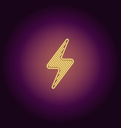 Neon icon of yellow electric energy vector