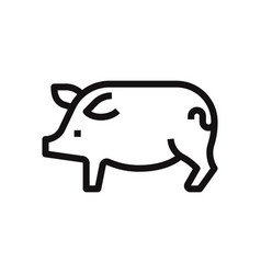 Outline pig icon isolated on white background vector