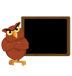 Owl and a blackboard vector image