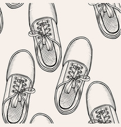Pattern of shoes - sneakers vector