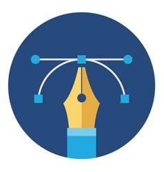 pen tool graphic design icon vector image