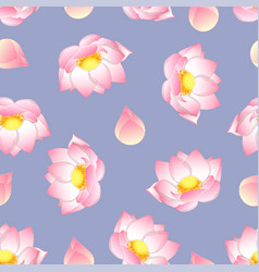 Pink indian lotus on purple background vector