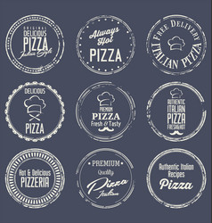 pizza labels 2 vector image