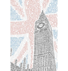 Poster with a picture of Big Ben vector