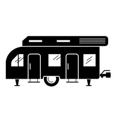 Recreation motorhome icon simple style vector