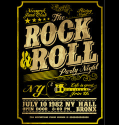 Rock poster design style vector