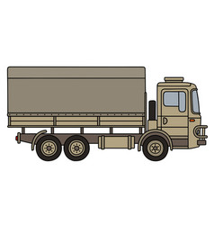 Sand camouflaged military truck vector